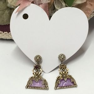Very Unique Vintage Clip on Earrings